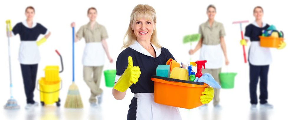 Professional cleaning maid ready to get to work for you.